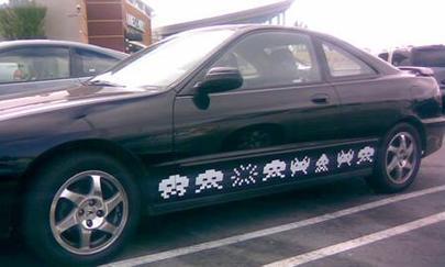 インベーダーの車