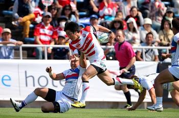 ラグビーアジア選手権、日本、韓国に圧勝