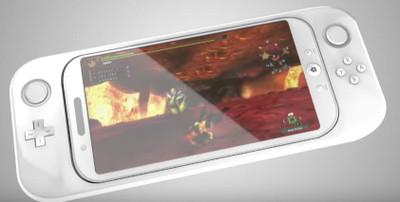 スマホをはめ込んで使うっぽい新型ゲーム機の予想写真