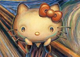 ムンクの叫びを模したキティちゃん