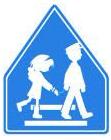 うぐぅが連行されていく道路標識