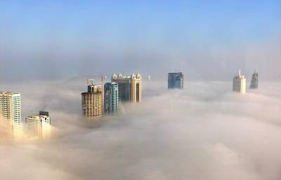 霧だからけの街の画像