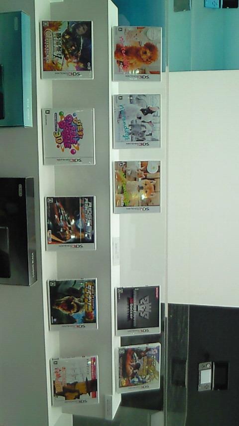 【3DS体験会レポ】同時発売ソフトのパッケージ達